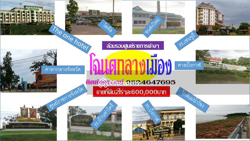 ขายท ด นถ กใจกลางเม องต วเม องบ งกาฬ 212 Bueng Kan Mueang Bueng