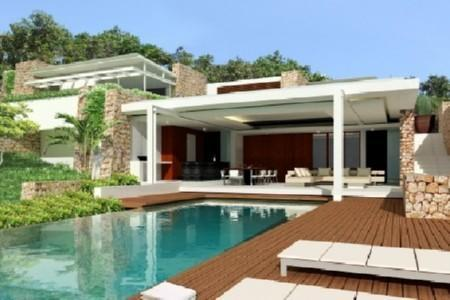 modern designed 4 bedroom houses for sale swimming pool