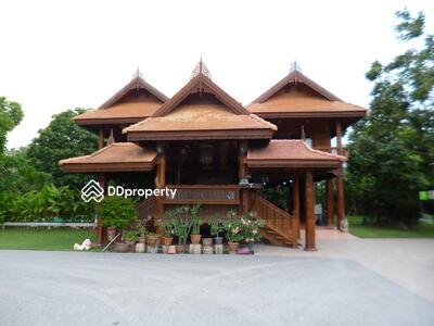 For Sale - บ้าน2ชั้นเรือนไทยไม้สักทองถนนคลองหลวงคลองสี่ ปทุมธานีเนื้อที่1ไร่26ตารางวาโครงสร้างดีแข็งแรงมากร่มรื่นด้วยต้นไม้ใหญ่บรรยากาศธรรมชาติ พร้อมเข้าอยู่ ออกถนนคลองหลวงเพียง2กม. ใก้ลวงแหวนกาญจนาฯ