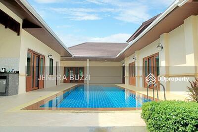 ขาย - บ้านสไตล์บาหลี พูลวิลล่า ชั้นเดียว หัวหิน ประจวบฯ  ทุกห้องนอนวิวสระน้ำ พื้นที่170. 80ตรว. เนื้อที่ ใช้สอย 465ตรม. 5ห้องนอน 4 ห้องน้ำ