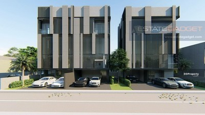 For Sale - ขายบ้านแฝดสร้างใหม่ 4ห้องนอน 5ห้องน้ำ ซอยปรีดีพนมยงค์ (สุขุมวิท71) เพียง 10 นาที (2กม. ) จาก BTSพระโขนง