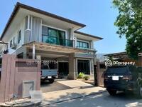 ขาย - ขายด่วน บ้านเดี่ยว The Palm พัฒนาการ ตกแต่งสวย พร้อมเฟอร์นิเจอร์ สวนหน้าบ้าน