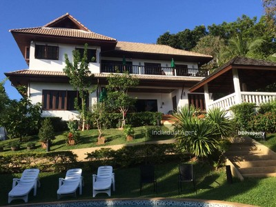 For Rent - 7R0090 This pool villa at Chalong 9 bedroom 7bathroom 1swimming 150, 000/month Fully furnished