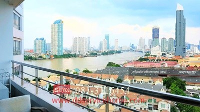 For Sale - Condo River Heaven River View 47 sqm. 3. 9 million, 15th Floor, Charoen Krung 76/1, near BTS Saphan Taksin, Near the highway, good location Make an appointment