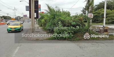 ให้เช่า - ให้เช่าที่ดิน ริมถนนติวานนท์ 1 ไร่ ทำเลดี ใกล้ทางเข้าเมืองทองธานี