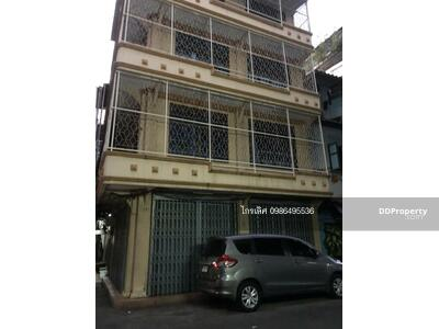 For Sale - Commercial building for sale, Bangkok, near BTS, Sampeng, Vanich 1, Soi Hua Med, Chakkrawat, Samphanthawong, Wang Burapha , Ratchawong, Yaowarat, China Town project. 2, corner room, 5 floors, with parking in front of the house 098-649-5536