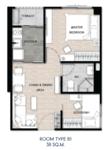 ขายดาวน์  คอนโดThe Excel Hideaway Sukhumvit71 36ตรม อาคารA ชั้น5 ห้องมุม วิวสวน