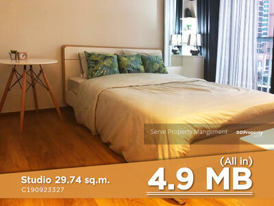 For Sale - Best Deal 4. 9 MB (all in) ! !! Homey Style Studio Close to BTS Phrom Phong & The Emporium at Condo Park 24 / Condo For Sale