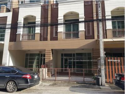 For Sale - express! Commercial building, Premium Place Nawamin project, 4 bedrooms, 4 bathrooms, area 379 sq m, area 23. 70 sq m, 4 floors, sale 8. 5 million baht @LINE: 0962215326 Khun On