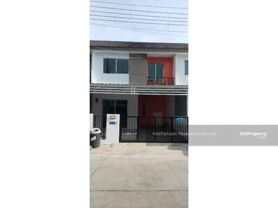 For Sale - express! Townhouse, Pruksa Village, Sukhumvit-Praksa, 3 bedrooms, 2 bathrooms, area 18 sq m, 2 floors, sale 2. 19 MB @LINE: 0962215326 Khun On