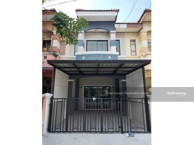 For Sale - Code KRE X79 New Town House Renovated Village of New World Ville Bang Bua Thong Suphan Rd. , 2 bedrooms, 2 bathrooms, area 19 sq. w. , 2 floors, sold 1. 49 million baht @LINE: 0962215326 Khun Kae