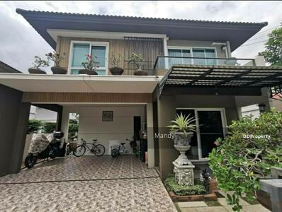 For Sale - NDP105 For sell, 2-storey house, Manthana Lake Watcharapol, 50. 3 sq m, fully furnished, very cheap!