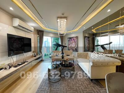 For Sale - R034-090 ขาย คอนโด Belle Grand พระราม 9 ห้อง Duplex ขนาด 108 ตรม. 2 Bed ชั้น 32 ติดเซนทรัลพระราม 9 แต่งสวยมาก
