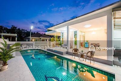 ขาย - Huahin Pool Villa For Sale  6. 5mlb หัวหินพูลวิลล่าสำหรับขาย หนองขอน ที่ดิน 88 ตรว 4ห้องนอน 4 ห้องน้ำ ชุดครัว เฟอร์ แอร์ ตู้เย็น ทีวี  สระส่วนตัว ราคาลดลงมาสุดๆ6. 5 ล้าน รวมค่าโอน