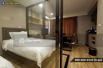 For Rent - Near BTS Surasak - Blossom Condo @Sathorn Charoenrat 30 sqm. 2 Single Beds, Resort Style Common Area