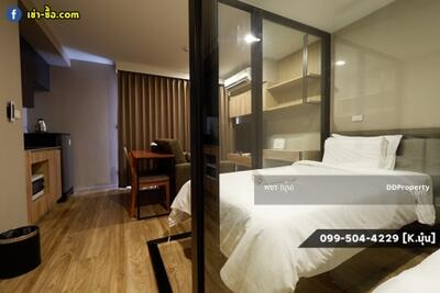 For Rent - 2 Single Beds, Resort Style Common Area - Blossom Condo @Sathorn Charoenrat 30 sqm. Near BTS Surasak