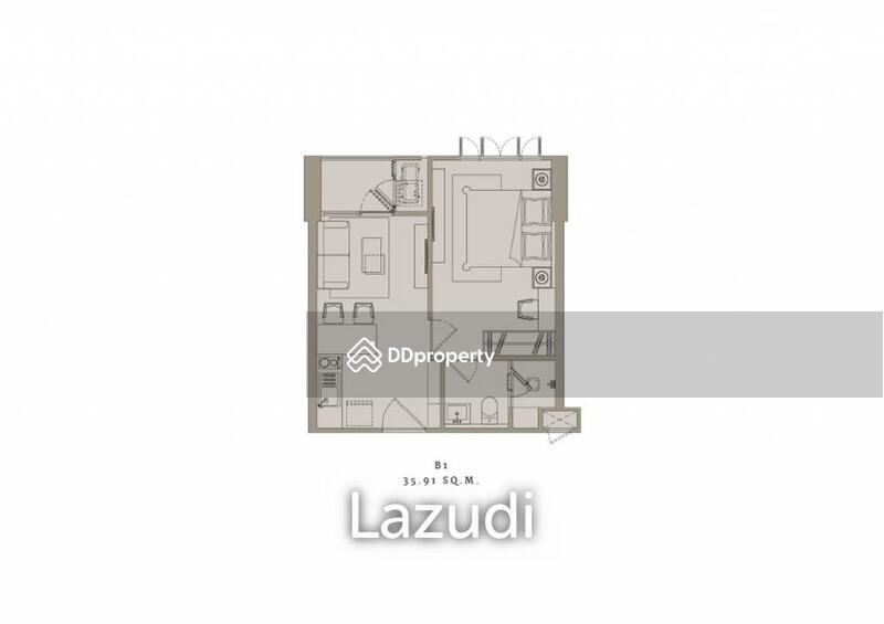 Lazudi 1 Bed 36.26SQ.M The Reserve Sukhumvit 61