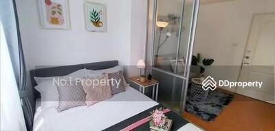 For Sale - W0285 Condo for sale, Lumpini Condo Town Nida - Serithai, 1 bedroom, 1 bathroom, Room size 23 sqm, 4th floor, Newly decorated room.