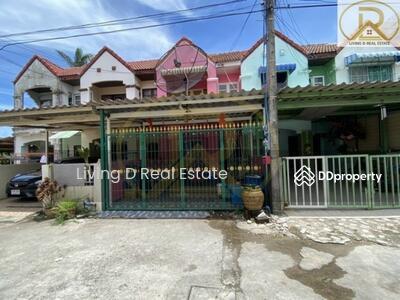 ขาย - ขายทาวน์เฮาส์2ชั้น ตรงข้ามร้านChacafe-อ่างเก็บน้ำบางพระ ศรีราชาชลบุรี