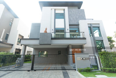 For Rent - Single house for rent, The Gentry Sukhumvit 101, corner plot, near BTS Punnawithi, 4 bedrooms, 4 bathrooms