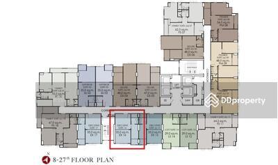 Option To Buy - ขายดาวน์ขาดทุน ห้อง 35 ตรม. ชั้น 27 ลมดีระเบียงทิศใต้ ห้องนอนติดบันไดหนีไฟเสียงไม่ดัง