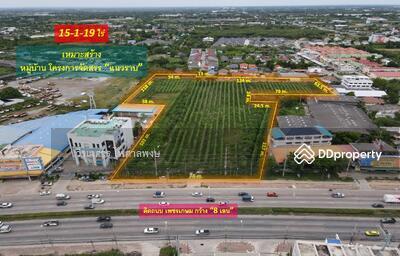 For Sale - ขายที่ดิน ต. ธรรมศาลา อ. เมืองนครปฐม—ติดถนนเพชรเกษม กว้าง 8 เลน (เหมาะสร้างหมู่บ้าน โครงการ แนวราบ) 15-1-19 ไร่ หน้ากว้างติดถนน 74 m. ## ข้าง ธนาคารกรุงไทย—ใกล้ Lotus นครปฐม—ใกล้ Big C นครปฐม