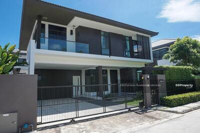 For Sale - Notification of the KRE-X5736 Code Single House, Manthana Lake Watcharapol Project, Sukhapapibal 5, 4 bedrooms, 3 bathrooms, use 235 sq. m. , 2 floors, sold 12, 900, 000 baht **** If you do not answer the call 0962212126 Khun Omelet