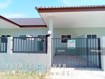 For Sale - 75075 - ขายบ้านสร้างใหม่ ทาวน์เฮ้าส์ ชั้นเดียว นาจอมเทียน สัตหีบ ชลบุรี