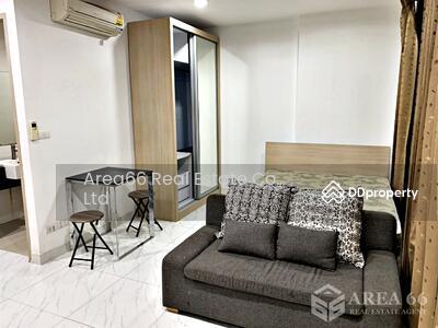 For Rent - เช่าคอนโด Ideo Ratchada - Huaykwang (ไอดีโอ รัชดา – ห้วยขวาง) ใกล้ MRT ห้วยขวาง สตูดิโอ 1 ห้องน้ำ  ขนาด 26 ตรม. ชั้น 6  แต่งสวย พร้อมเฟอร์ฯ