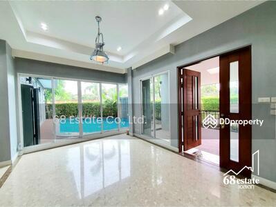 For Sale - ขายบ้านเดี่ยวมือหนึ่ง พร้อมสระว่ายน้ำส่วนตัว 'บางกอก บูเลอวาร์ด (Bangkok Boulevard) รามอินทรา 3' ซ. รามอินทรา 62  ห้องมุม 6 นอน พื้นที่ใช้สอย 350 ตรม. (68180)