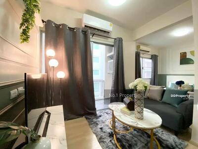 For Sale - W0827 Condo for sale, A Space, Sukhumvit 77, 1 bedroom 1 bathroom Size 35 sqm. , 4th floor, Building A, decorated in modern style, pool view, fully furnished