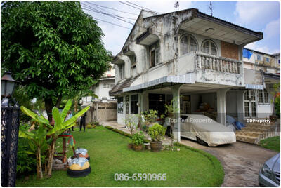 For Sale - Detached house 113 sq wa, 3 bedrooms, 3 bathrooms Soi Pracha Songkhro 47, near MRT Huai Khwang, accessible in many ways.