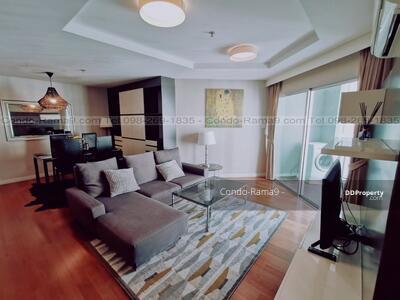For Rent - RENT ! ! Condo Belle Grand, MRT Rama 9, 2 Beds/2 Baths, Tower B1, Floor 22, 97 sq. m. , Rent 33, 000. -